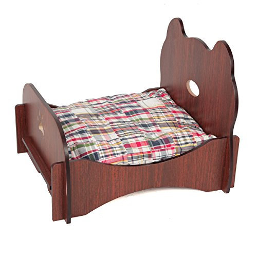 Favorite Pet Bed Ventilated Base Wood Furniture, Brown - Bed Molding Wood