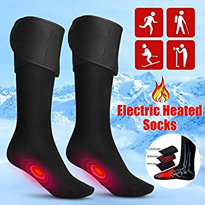 Electric Charging Battery Heated Cotton Socks Feet Thermal Winter Warmer Foot Sock for Cycling Skiing Unisex Motorcycle Accessories