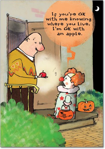 Halloween Ecards Costume (3006 'Know Where You Live' - Funny Halloween Greeting Card with 5