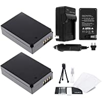 LP-E12 Battery 2-Pack Bundle with Rapid Travel Charger and UltraPro Accessory Kit for Select Canon Cameras Including EOS M, EOS M2, Rebel SL1, and EOS 100D