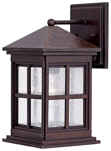 Outdoor Lamp Berkeley (Minka Lavery Outdoor Wall Light 8561-51 Berkeley Exterior Wall Lantern, 75 Watts, Brass)
