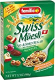 Familia Swiss Muesli No Added Sugar is made with all-natural ingredients and has no added sugar. It contains fruity apple flakes mixed with whole grains, and chopped nuts. It has a tasty blend with a soft texture. Try this with milk, fruit, y...