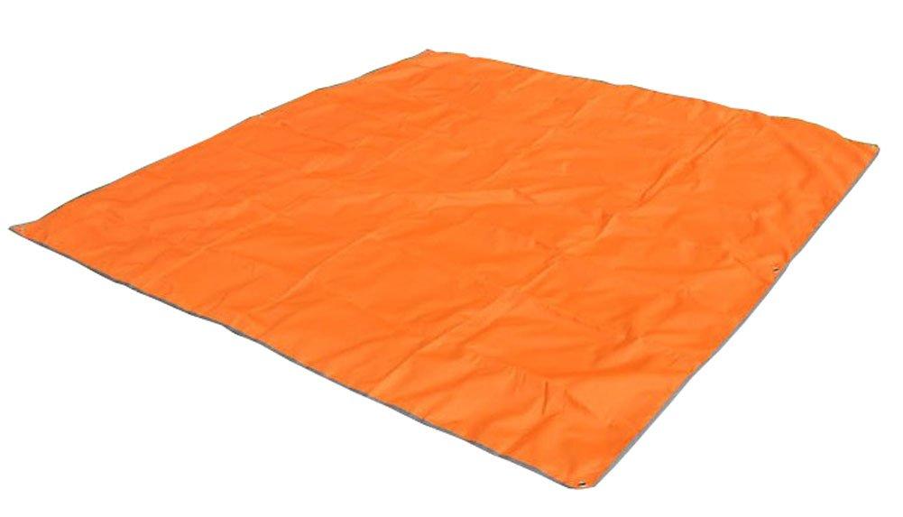 オックスフォード布2.1 2.1メートルピクニックマット大シェーディングオーニング窓オレンジ B00HR1GXEC