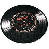 Großer Record Music Teppich - Runder Teppich Schallplatte Motiv (Ø ca. 100cm)