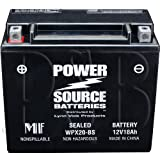 YTX20H-BS, YTX20H, YTX20-BS, YTX20, GYZ20H, 0745-047, 0645-480, 0645-170 Replacement Battery 375cca High Performance WPX20-BS Sealed AGM for Arctic Cat, Honda, Motorcycle, ATV, Snowmobile