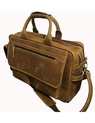 Devil Hunter 18 inch Vintage Buffalo Leather Messenger Satchel Laptop Briefcase Mens Bag Crazy Vintage Leather...