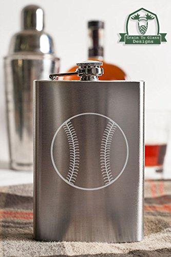 安い購入 野球8オンスステンレス鋼フラスコ   B014C8QMNY, 輸入建材ジェイマックス:13d1bb4e --- buyanyproducts.com