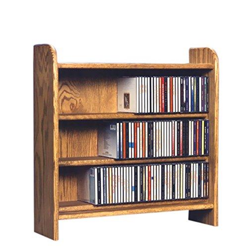 Cdracks Media Furniture Solid Oak 3 Shelf CD Cabinet Maximum Capacity 220 CD's Honey Finish (Solid Oak Floor Stand)