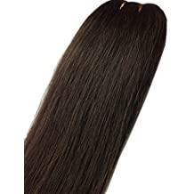 Remeehi Straight Hairpieces Jaw Claw Clip Ponytail Extensions 100% Indian Remy Human Hair Various Colors 85g 15 Inches #2 Dark Brown