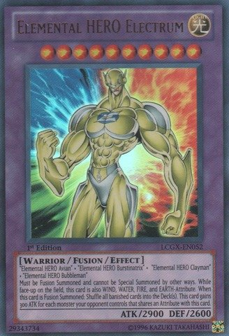 Yu-Gi-Oh! - Elemental HERO Electrum (LCGX-EN052) - Legendary Collection 2 - 1st Edition - Ultra Rare (Collection Elemental Hero)