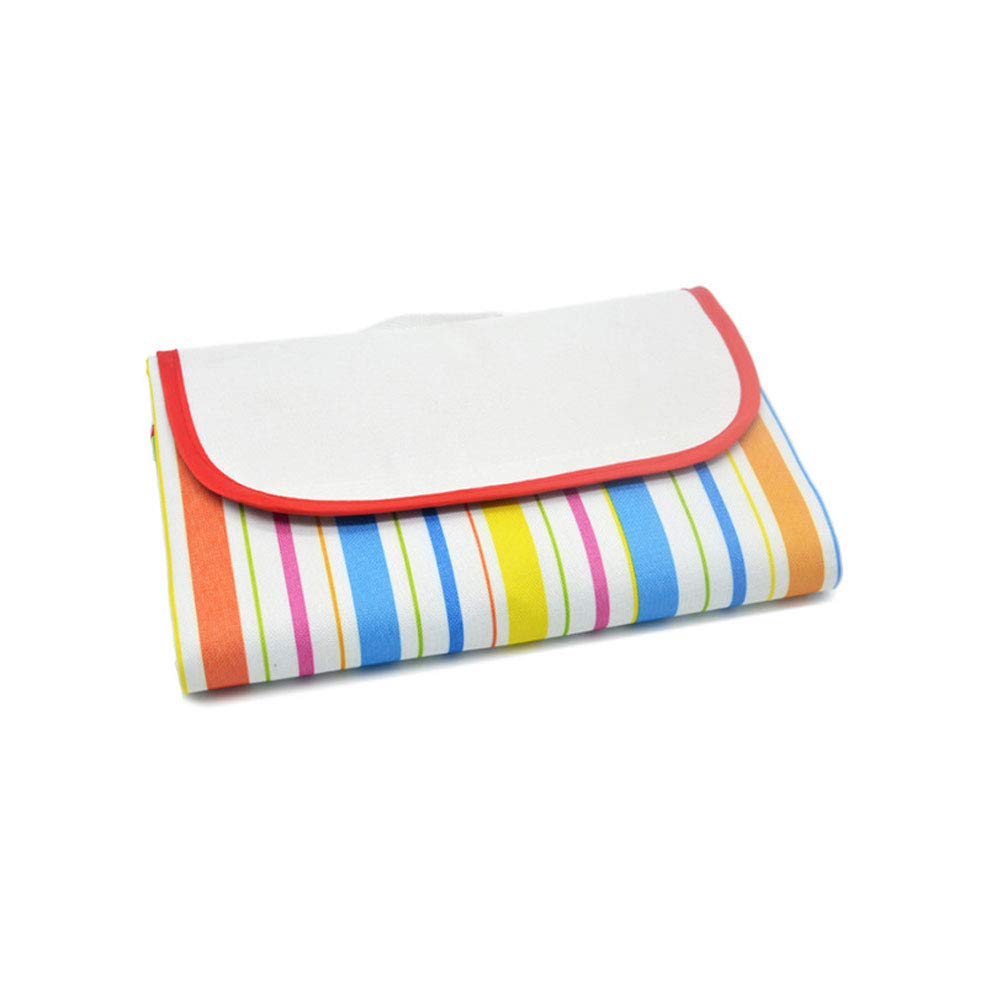 colorfullines Outdoor Picnic Blanket, Environmental Predection Portable Picnic Rug Wear Resistant Oxford Cloth Waterproof Beach Mat Camping Outdoor Mat