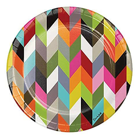 French Bull Ziggy- 10-Inch Round Dinner Plates, 10-Count