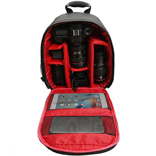 Connoworld 2018 - Mochila para cámara de fotos digital DSLR (impermeable, ligera, para cámaras réflex digitales Canon,...
