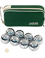 Jaques of London Boules 8 Petanque Set - Luxury 8 Boules Set in Zip Case - Rust-Z treated For Durability Bowls Set - Quality Garden Games Since 1795
