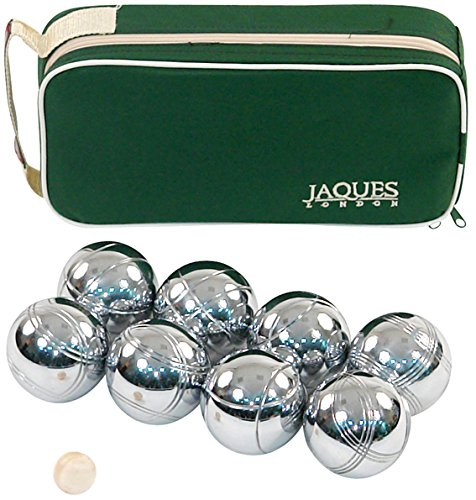 Jaques of London Boules 8 Petanque Set 8 Boules Set in Zip Case - Rust-Z treated For Durability Bowls Set - Quality Garden Games Since 1795
