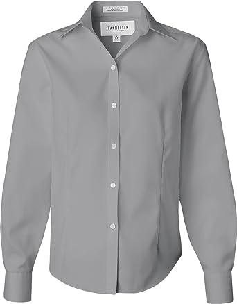 b278377b82 Van Heusen Women s Wrinkle Free Spread Collar Oxford Shirt at Amazon Women s  Clothing store