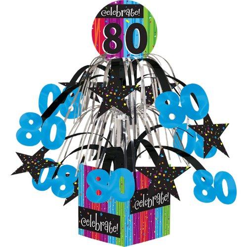 Creative Converting Party Decoration Metallic Foil Cascading Centerpiece, Milestone Celebrations 80th for $<!--$3.99-->