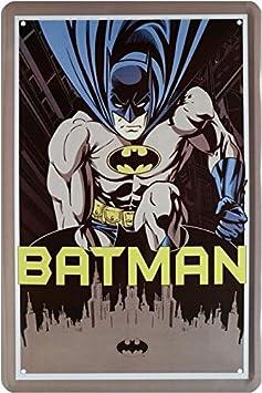 Tin Sign Cartel de Chapa 20 x 30 cm Batman Cartoon DC Comics ...