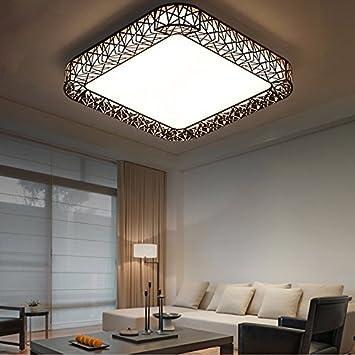 YX&YQSHOP Lámpara de Techo LED cálido Dormitorio Rectangular ...