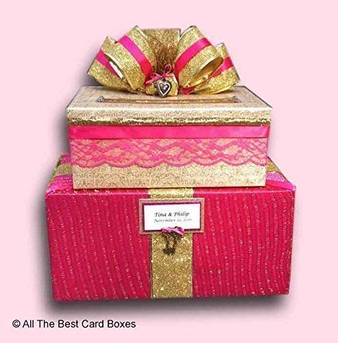 Amazon Com Sweet 16 Quinceanera Or Wedding Card Box Hot Pink