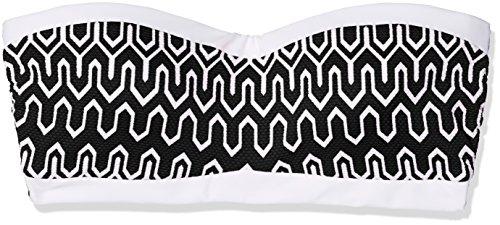 Seafolly Optic Wave Bandeau Bustier, Parte de Arriba de Bikini para Mujer Schwarz (Black)
