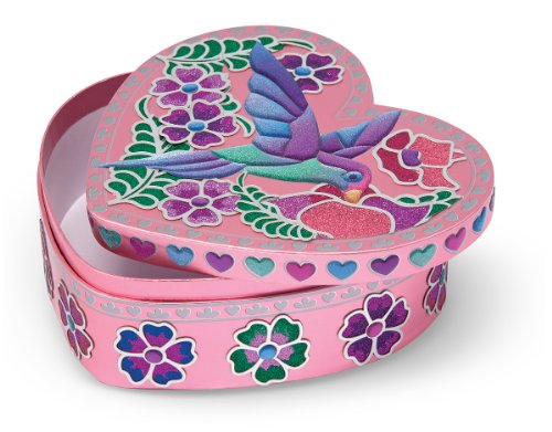 Sticker Treasure - Melissa & Doug Peel & Press Sticker by Number with Sweetheart Treasure Box