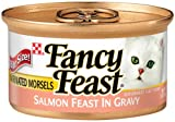 Fancy Feast Gourmet Cat Food, Marinated Morsels Salmon Feast in Gravy, 3-Ounce Cans (Pack of 24), My Pet Supplies