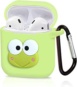 Airpods Case, Dolopow AirPods Accessories Shockproof Protective Premium Silicone Cover Skin for AirPods Charging Case 2 & 1 -Frog