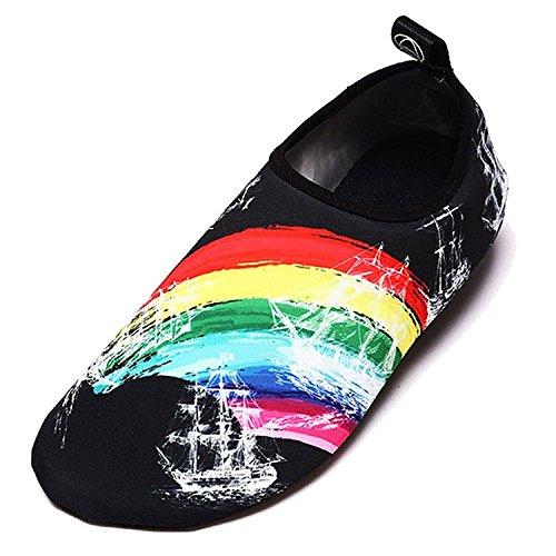 Barefoot Kids Shoes Rainbow Dry Slip Summer Aqua Water For Socks Sports on Yoga Women Quick Neband Men EqpRxZtnx
