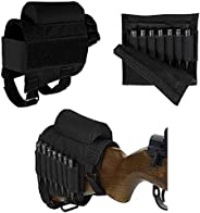 HWZ Buttstock Cheek Rest with Ammo Carrier Case Holder for .308 .300 Winmag
