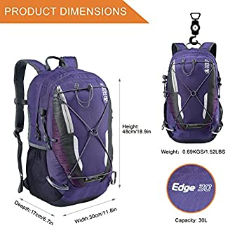 TERRA PEAK Adjustable Hiking Backpack 55L 65L 85L 20L for Men Women with Free Rain Cover Included Black Navy Green and Dark Grey