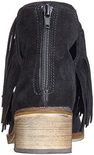 Vero Moda Vmlaure Leather Boot, Zapatillas de Estar por Casa para Mujer Negro - negro