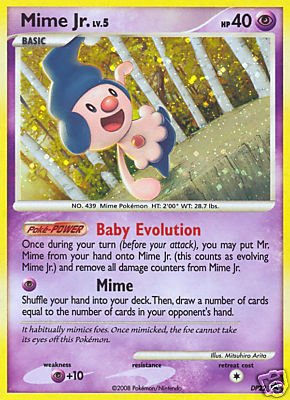 Card Promo Pearl Foil (Pokemon Card Promo #DP22 - MIME JR. lv.5 (holo-foil))
