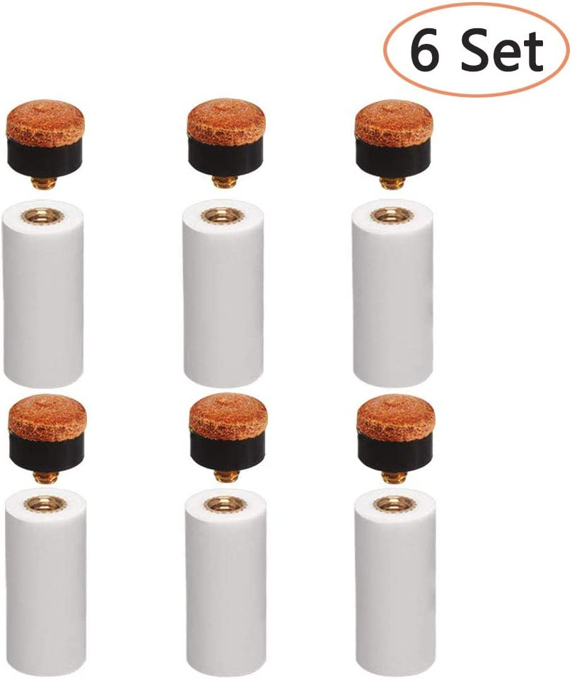 10 Screw on Cue Tips  13 mm for Snooker Pool Billiard Cues = NEW
