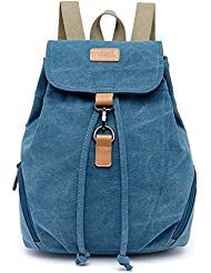 TUODAWEN(TM) Girls Leisure Canvas Drawstring School Bag Rucksack