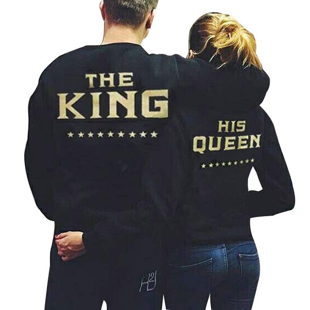 Matching Couple Hoodie The King & His QueenCouple Hoodie Loving Sweatshirt at Amazon Mens Clothing store: