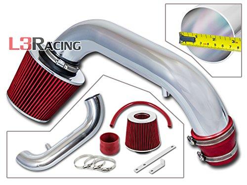 Rtunes Racing Black / Blue Red Ram Air Intake Kit For 1997-2003 Durango / Dakota 3.2L & 3.9L V6 & 5.2L & 5.9L V8 - Polished Dodge System Intake Dakota