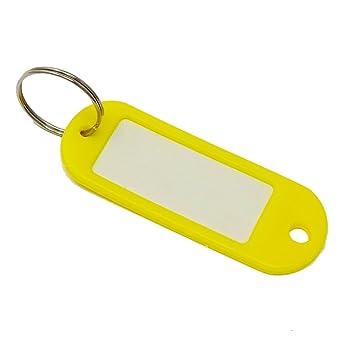 Etiquetas para llaves de SBS, color amarillo, llavero con ...