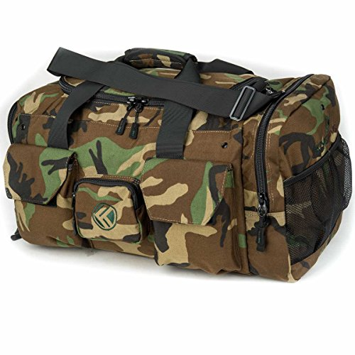 "King Kong Original Nylon Gym Bag - Heavy Duty and Water-Resistant Duffle Bag - Military Spec Nylon- Heavy Duty Steel Buckles - 20"" x 12"" x 12"" - Camo"