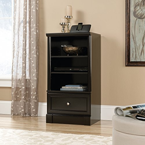 Sauder 420790 Bleeker Street Technology Pier Cabinet, Obsidian Oak - Audio Video Cabinet