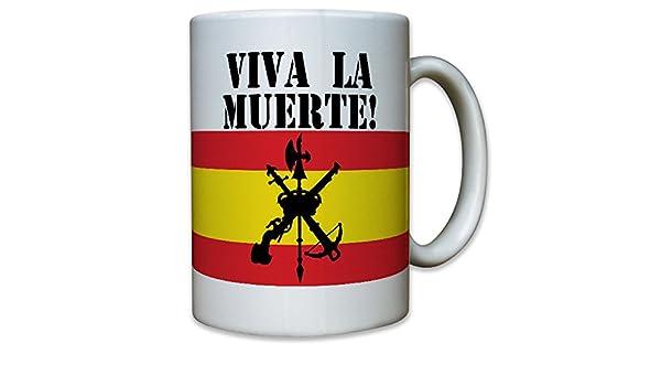 /Taza Caf/é # 6620 Legi/ón Espa/ñola Viva La Muerte Legion Calavera Espa/ña cr/áneo Logo Escudo Fremde Legion Espa/ña Bandera de guerrero/
