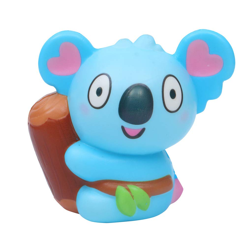Christmas Roysberry Toys - Squishies Jumbo Slow Rising Koala, Toddler Toys Cute Stress Relief Toys Ball Squishy Soft Kawaii for Adults 3D Puzzle Toys for Kids for Girls (Blue)