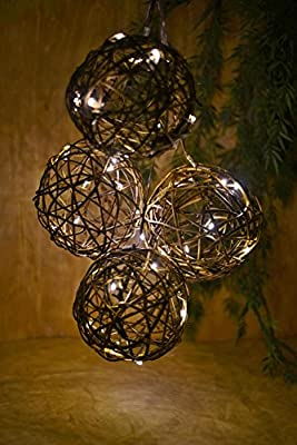 Richland Grapevine String Lights 6ft Battery Operated 10CT Warm White LED