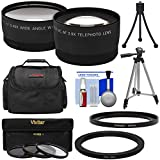 Precision Design FA-DC67A Adapter Ring (67mm) with Tele/Wide Lenses + 3 Filters + Case + Tripod + Kit for Canon PowerShot SX530, SX540 & SX60 HS