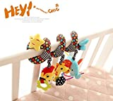 Star Baby Activity Spiral Crib Bed Soft Musical Toy Infant Rattle Stroller/Pram