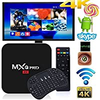 MXQ Pro 4K Smart TV BOX Android 6 1G/8G Quad Core with WiFi HDMI DLNA with Smart Wireless Keyboard