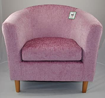 pink fabric tub chair amazon co uk kitchen home