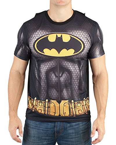 Bioworld Batman Men's Sublimated T-Shirt with Cape (Small) -