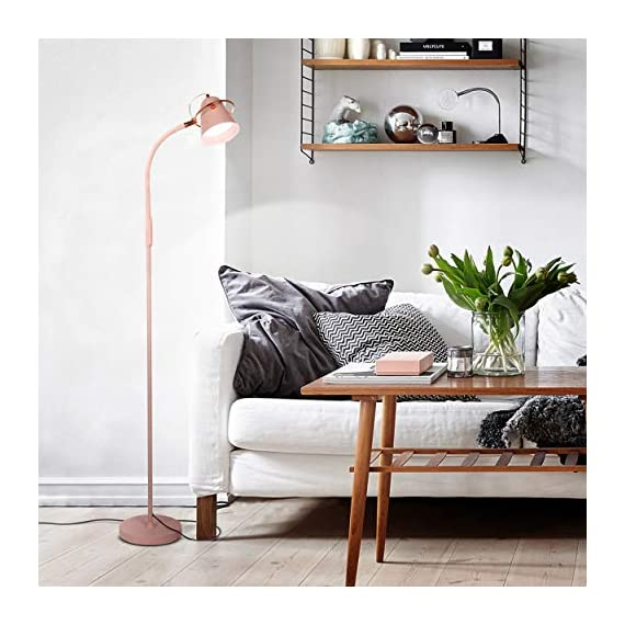 "Brightech Zoey - LED Reading, Craft & Task Floor Lamp - Dimmable & Light Color Adjustable with Touch Switch- Standing… - PLACE OVER A SOFA AND USE THE GOOSENECK TO DIRECT LIGHT INTO YOUR LAP: Place the Brightech Zoey beside the couch to light up the novel or cross-stitch you're holding in your lap. Use the flexible yet sturdy gooseneck to position the light perfectly. Once in place, it stays put. It stands up to 64 1/2"" base to top. INDUSTRIAL UPRIGHT LAMP SUITS MANY DECORS: The architect look of the Brightech Zoey pairs well with, urban, art deco, mid-century, contemporary, industrial or ultra-mod décor. Turns on and off easily via a touch switch, and dims with a stepless dimmer. DIMMABLE & LIGHT COLOR ADJUSTABLE - FOR READING & CRAFTS OR MOOD LIGHTING: Capable of both mood and task lighting, Brightech's Zoey solves your home or office needs brightly and efficiently. Choose the color of your light at 3,000K Warm White, 4,500K Cool White or 6,000K Daylight white. The stepless dimming function allows you to simplify the process. The dimmable floor lamp can adjust brightness between 10% and 100%. Use the brightest for tasks in your office and the lowest for a cozy mood. - living-room-decor, living-room, floor-lamps - 51JhoouN2jL. SS570  -"