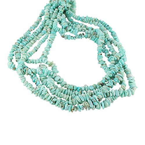 Mountain Turquoise Nugget - LONE MOUNTAIN TURQUOISE BEADS NUGGET LIGHT BLUE